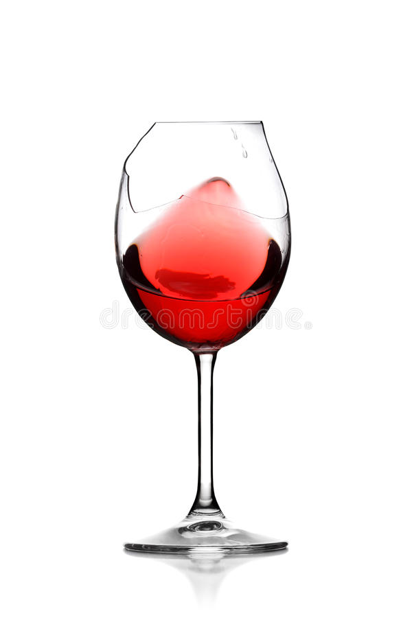 Download Red wine in broken glass stock photo. Image of color - 15900236