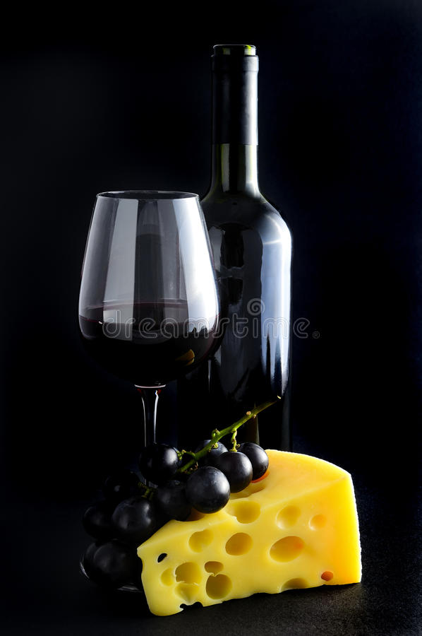 Download Red Wine, Cheese And Grapes Stock Photo - Image: 18856308