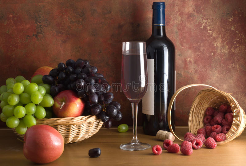 Red wine composition stock photos
