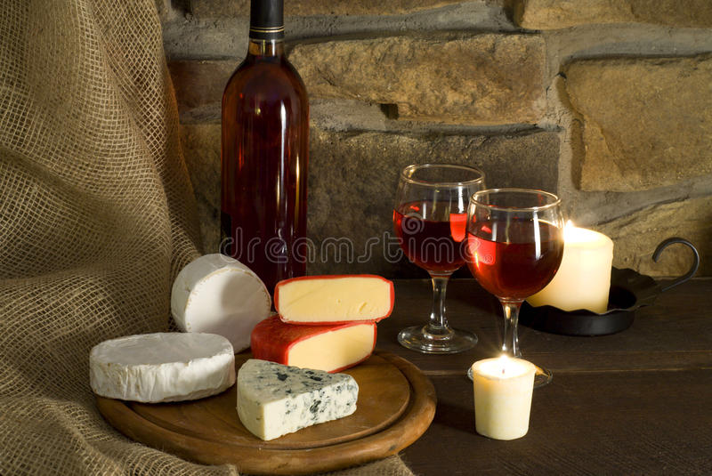 Red wine composition stock image