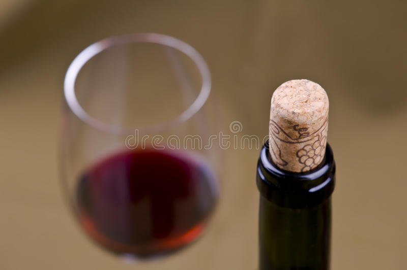Red Wine And Cork Stock Photos
