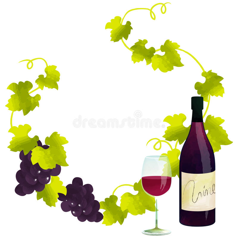 Download Red wine frame stock photo. Image of grape, frame, circle - 87340896