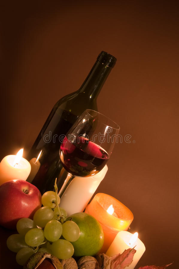 Download Red wine and fruits stock photo. Image of bottle, glass - 11457144
