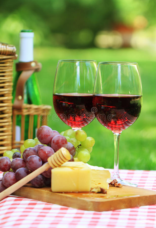 Download Red wine in the garden stock image. Image of bottle, blue - 19794907