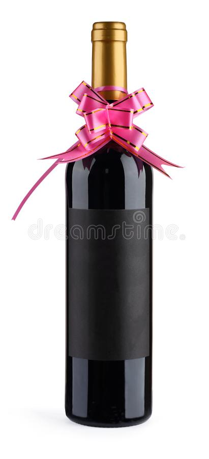 Red wine for gift stock photos