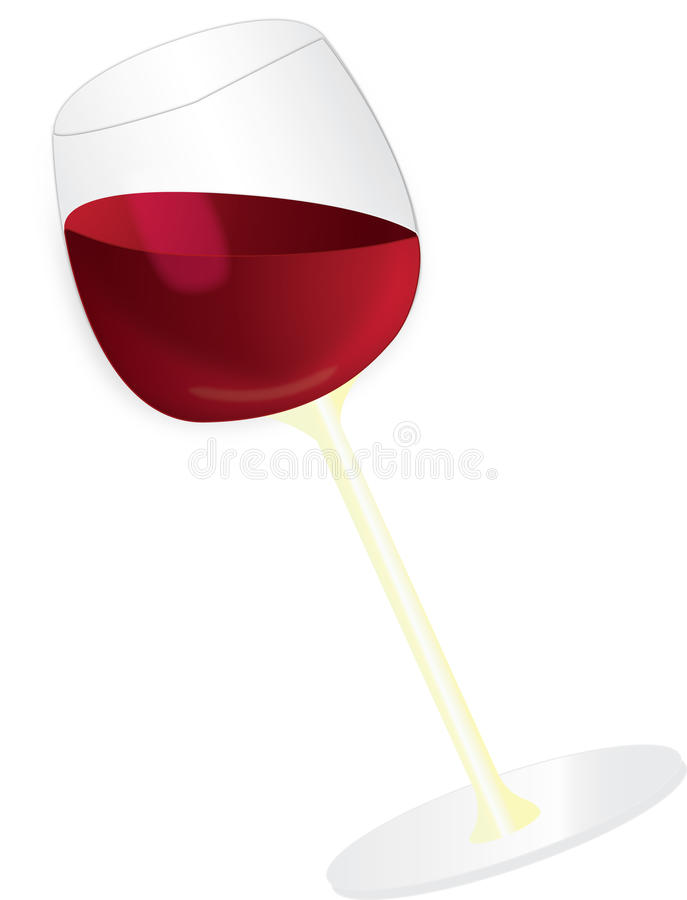 Download Red wine glass stock vector. Illustration of stand, editable - 10228935