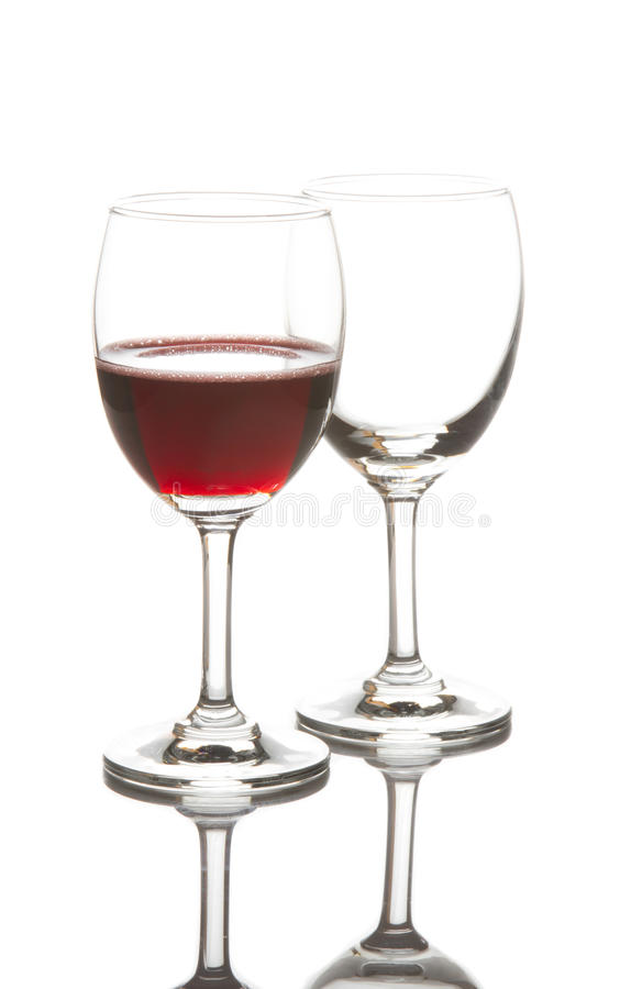 Download Red Wine Glass And Empty Wine Glass Stock Image - Image: 30400345