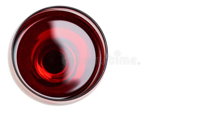 Red Wine in glass. Isolated on white background. copy space, template.  stock images