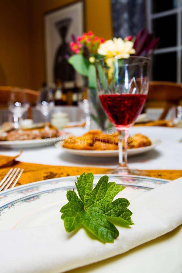 Download Tableware Decorated Mint Leaves Stock Photo - Image: 29803020