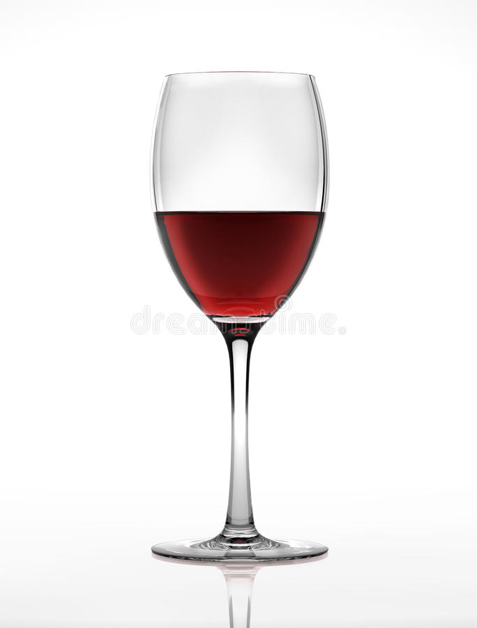 Download Red Wine Glass, Viewed From A Side. Stock Illustration - Image: 22731395