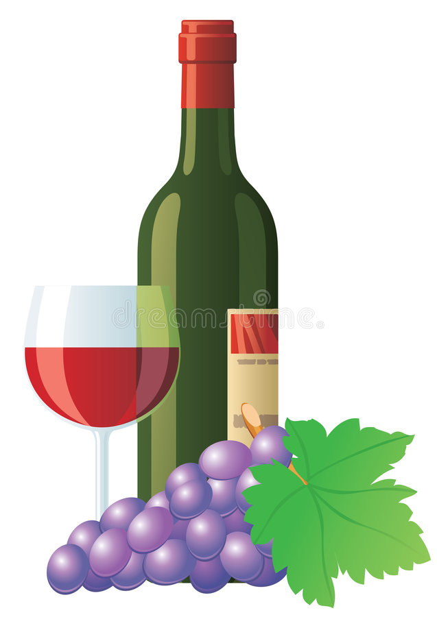 Download Red wine and grape stock illustration. Image of shop, bordeaux - 5498049