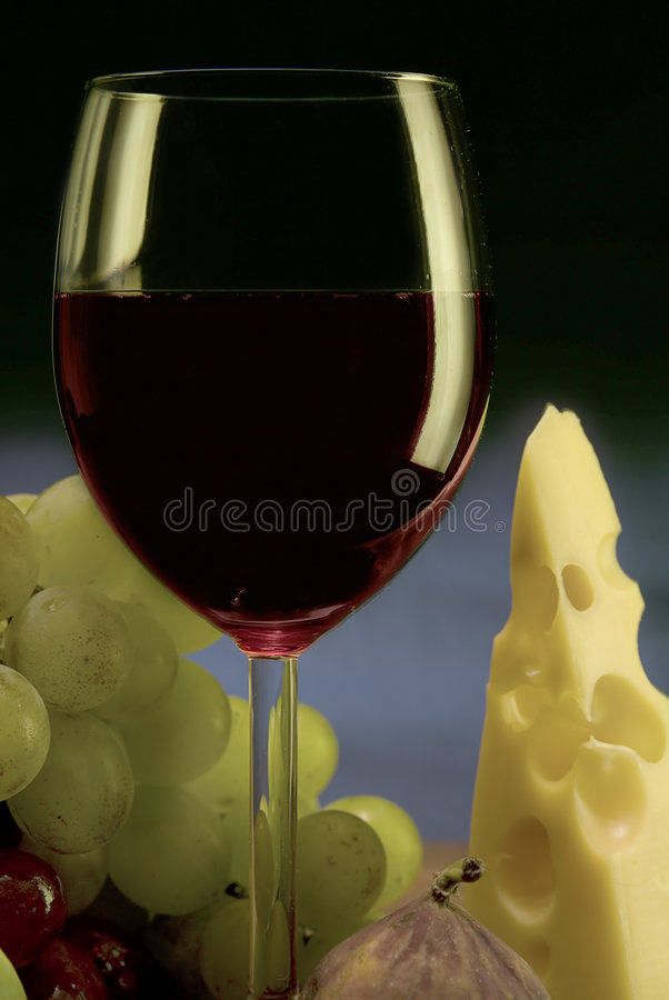Download Red wine, grape, cheese II stock image. Image of elegant - 1884845