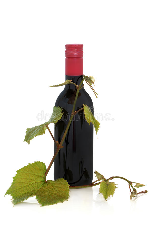Download Red Wine And Grape Leaves Stock Photography - Image: 13502382