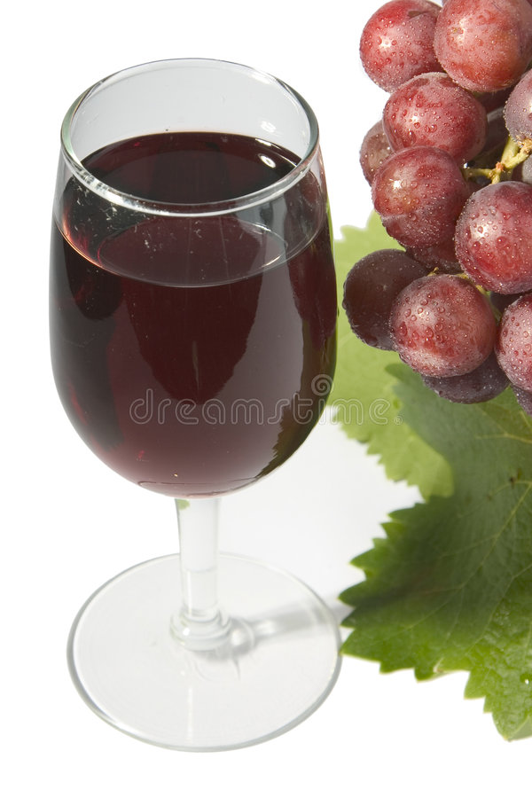 Red wine & grapes stock photos