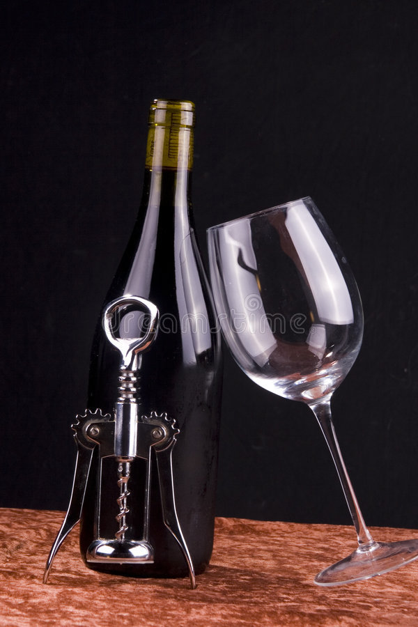 Red wine items royalty free stock images