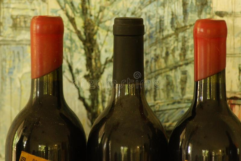 Red Wine. Is a popular drink with the evening meal. Tastes vary widely. Describing a wine compares to writing a poem; not as easy as it would seem. Every wine royalty free stock image