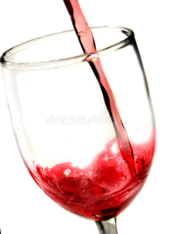 Red wine pour closeup royalty free stock photography