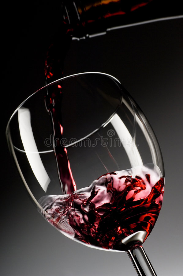 Download Red wine poured into glass stock image. Image of drunk - 2204027