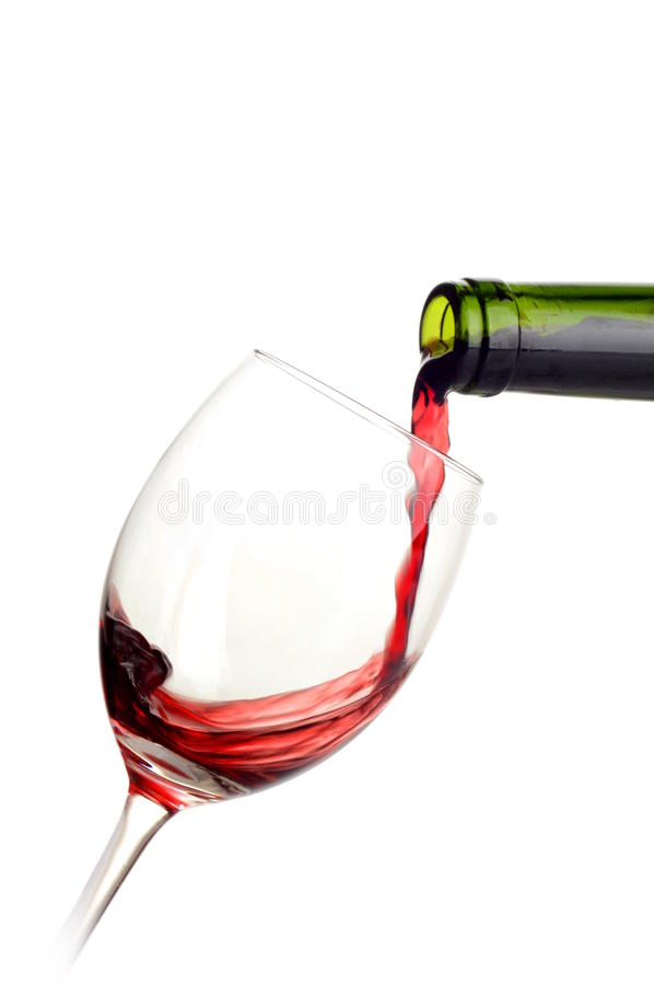 Download Red Wine Poured Into A Glass Stock Photography - Image: 35323952