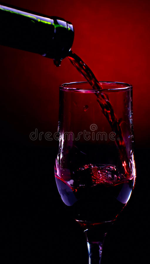 Red wine river royalty free stock photography