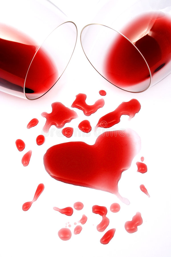 Download Red wine romance stock image. Image of heart, stain, love - 4680241