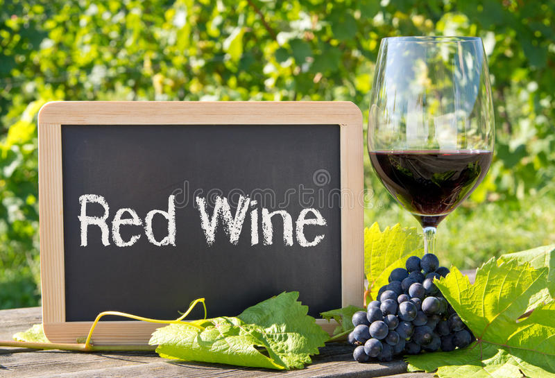 Download Red wine sign with grapes stock photo. Image of nature - 35278548