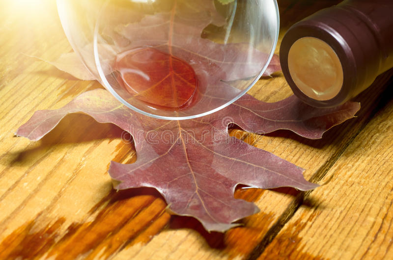 Red wine spilled royalty free stock image