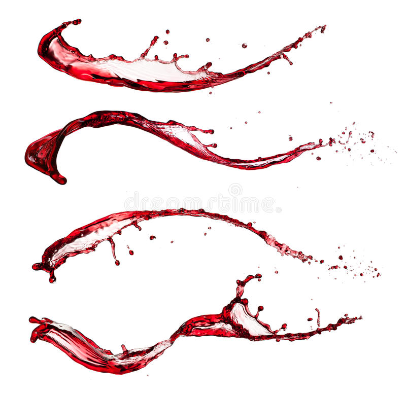 Red wine splashes royalty free stock images