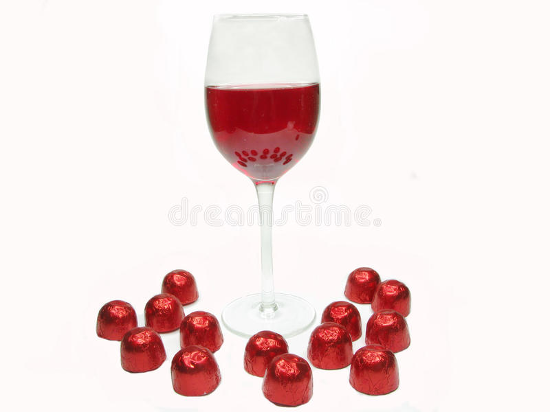 Download Red wine and sweetmeats stock photo. Image of glass, sweet - 13297284