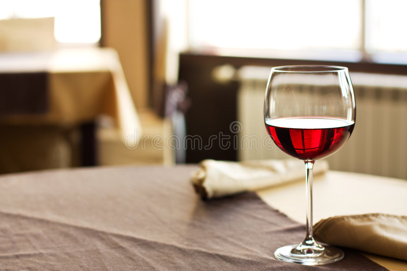 Red Wine on table stock photo