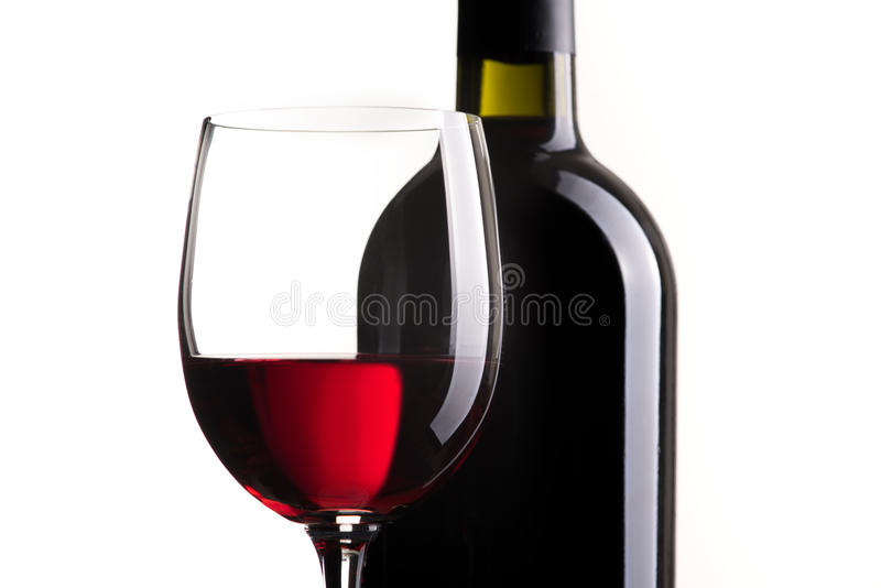 Red wine tasting royalty free stock image