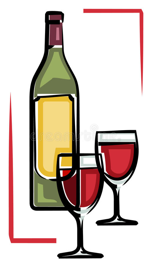 Red wine (Vector) vector illustration