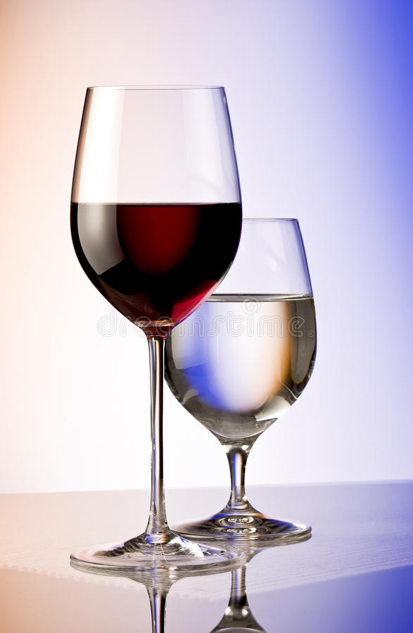Red wine and water royalty free stock images