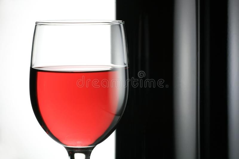 Red Wine With Wine Bottle Free Stock Photography