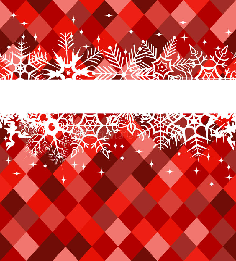 Download Red Winter Banner With Snowflakes Stock Vector - Image: 11623443