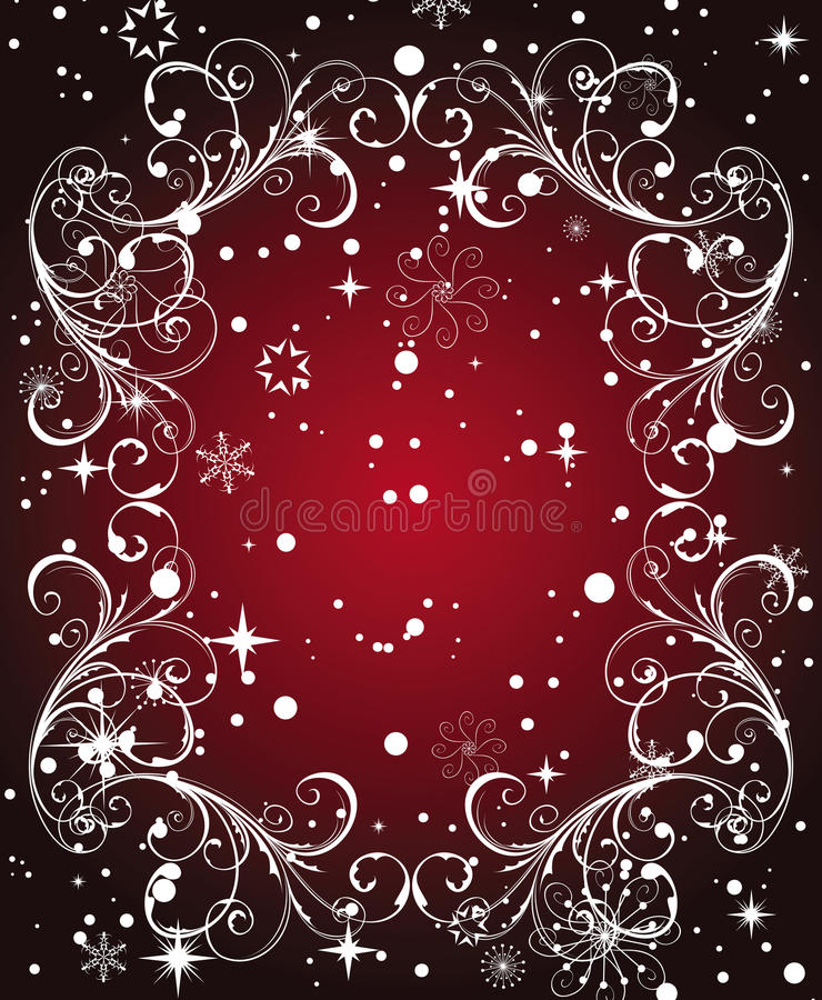 Free Red Winter Frame Royalty Free Stock Photo - 12016295