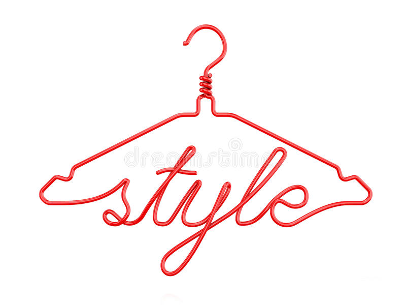 Red Wire Clothes Hangers With Message - STYLE Stock Illustration ...