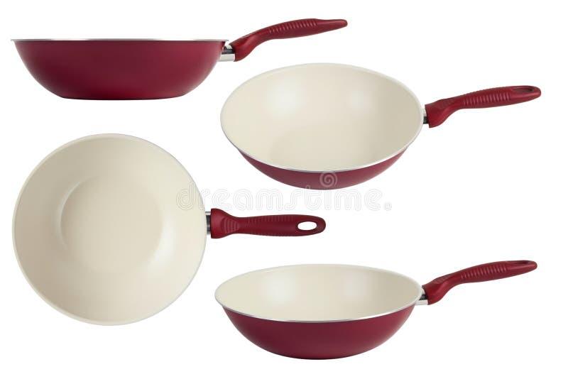 Frying pan wok royalty free stock images