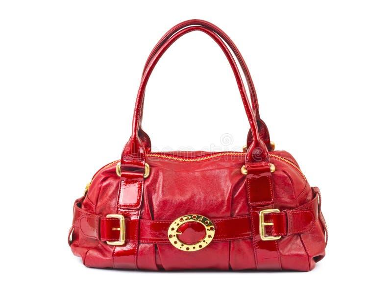Red woman bag stock photos