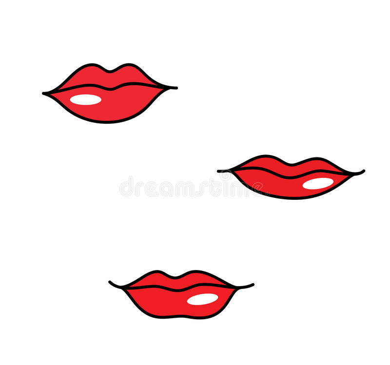 red woman lips different shapes stock vector illustration of