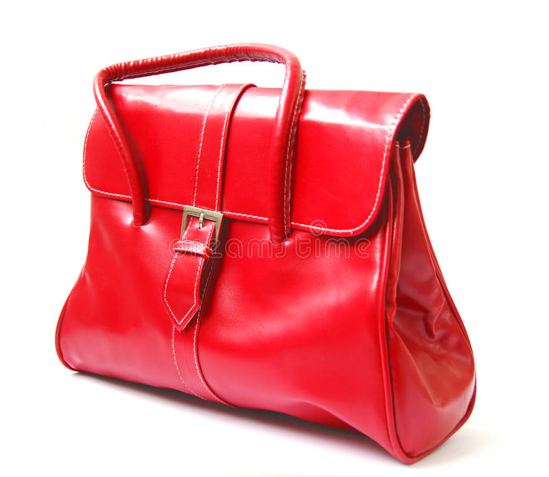 Red women bag royalty free stock photos