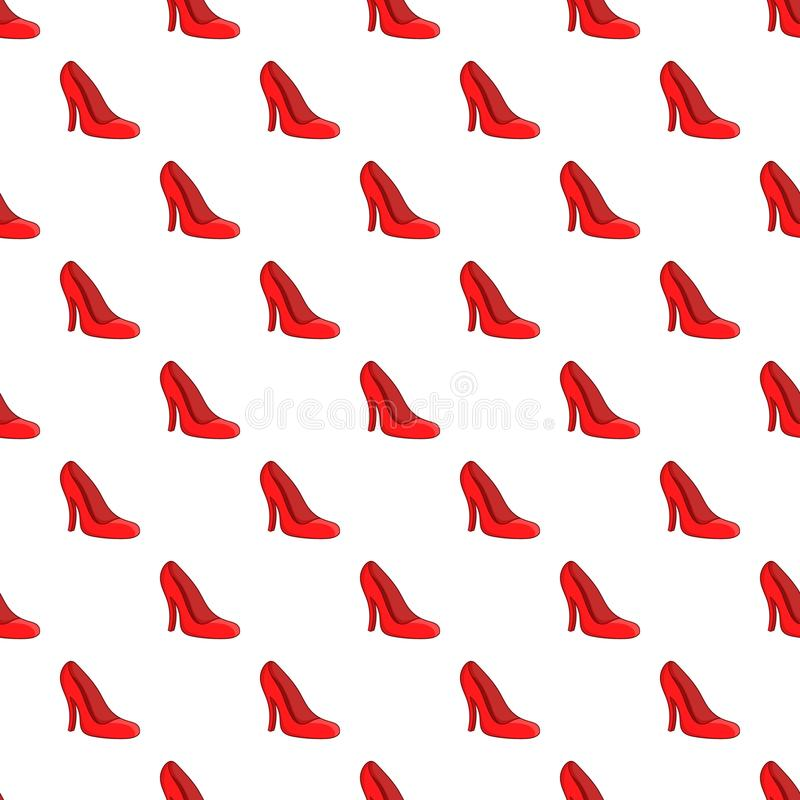 Red women shoes pattern, cartoon style. Red women shoes pattern. Cartoon illustration of red women shoes vector pattern for web vector illustration