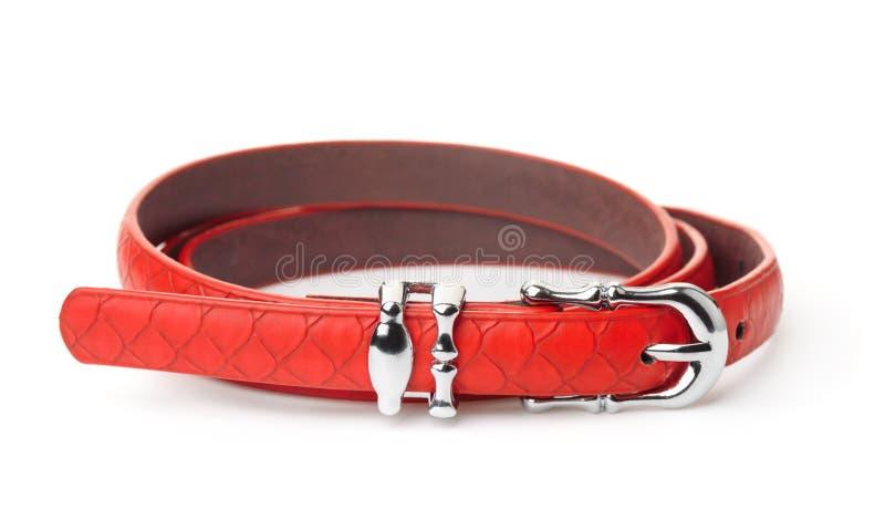 Red women thin belt stock photos