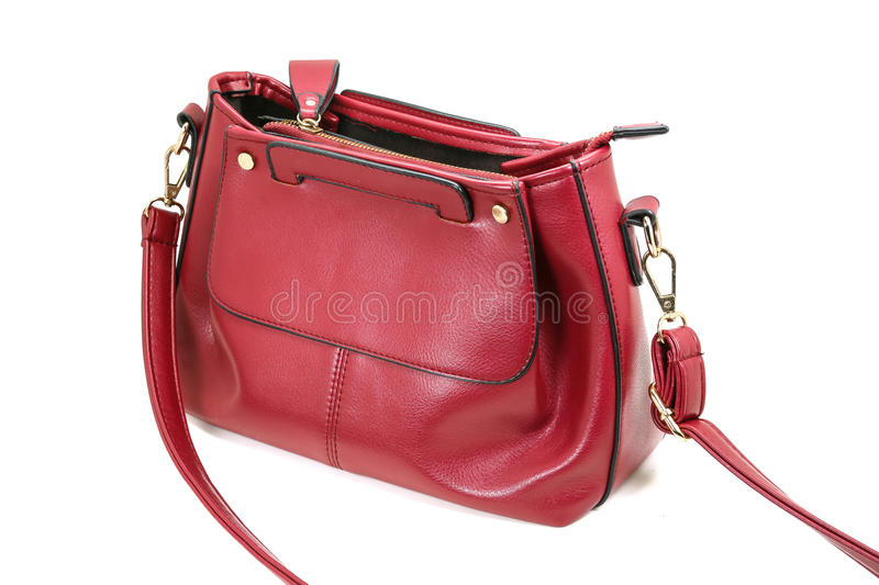 Red womens Shoulder Bags royalty free stock photos