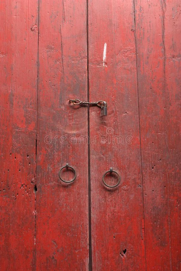 Download Red wood gate stock image. Image of gate, beauty, business - 14317457