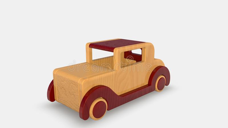 Wood old toy car vector illustration