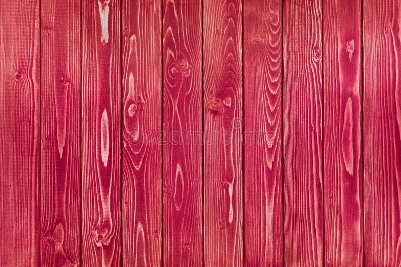 Red wood texture. Background old red panels. royalty free stock image