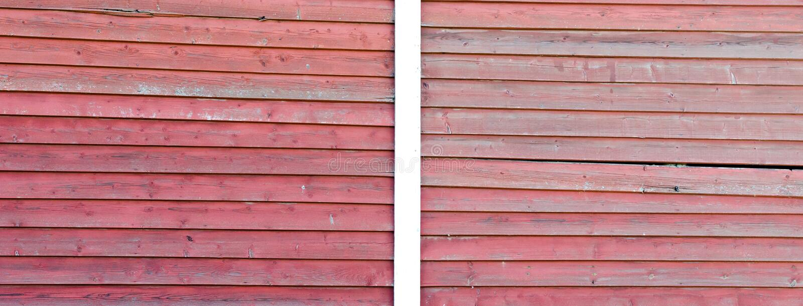 Red wood texture background. Red wood texture, old stable wall stock image