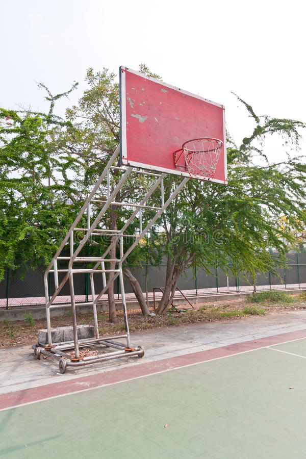 Download Red wooden basketball goal stock photo. Image of shot - 23498370