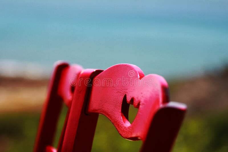 Red Wooden Chair Close Up Photography royalty free stock photos